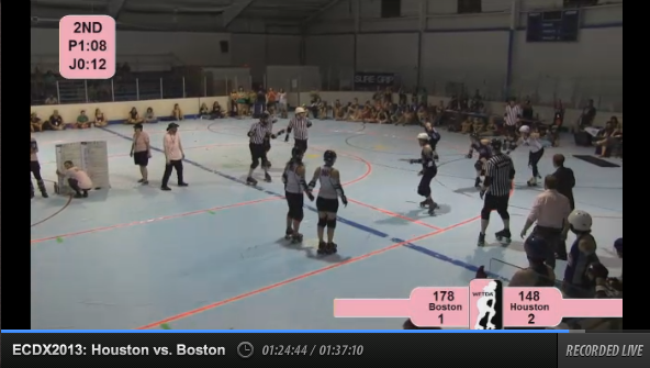 Houston vs Boston, live on WFTDA.tv